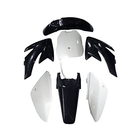 Astonishing Plastics Fender Kit Fairing Body Compatible With Honda Crf70 Pit Dirt Bike 70Cc 150Cc Black Ibusinesslaw Wood Chair Design Ideas Ibusinesslaworg