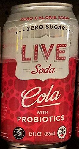 Live Soda - Cola with Probiotics 12 oz (Pack of 12 Cans) (Live Soda Kombucha)