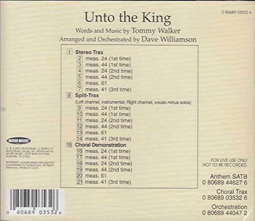 Unto the King - CHORALTRAX Accompaniment CD