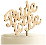 aMonogram Art Unlimited Bride To Be Wooden Cake Topper, 6'', Natural