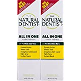 The Natural Dentist All-in-One Toothpaste Tube, Peppermint Twist, 5 Ounce (2 Count) Reduces Plaque Helps Prevent Gingivitis No SLS