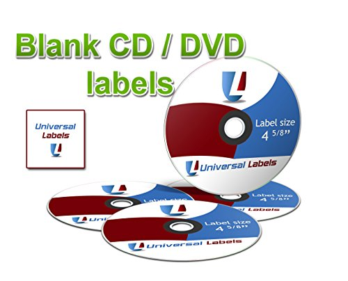 - 1000 Universal Labels CD/DVD Labels - 500 Sheets of Labels - White Matte - Will Work with Laser & Inkjet Printers