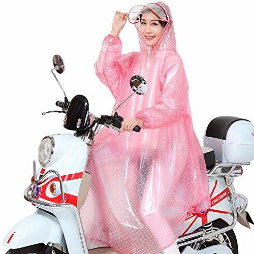 Impermables Femme Cap Homme Pluie lectriques GAOLI Et Double Rose Chapeau Vlos Un Seul Ebb Moto Vlos Manches Homme U6nnqEwFaW