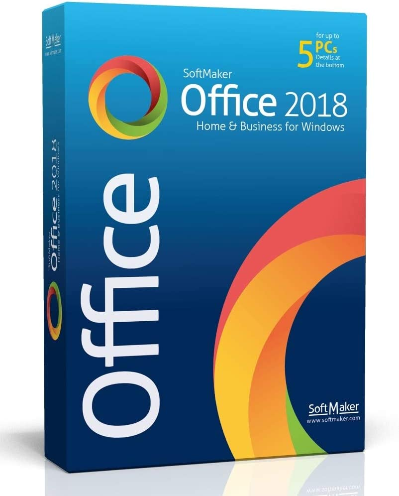 SoftMaker Office - Word processing, spreadsheet and presentation software for Windows 10 / 8 / 7 - compatible with Microsoft Office Word, Excel and PowerPoint - for 5 PCs