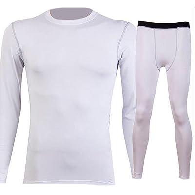 ARRIVE GUIDE Men's Skin Tights Pro Compression Longsleeve Top Base Under Layer Shirts & Pants Set