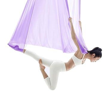 Aéreo Yoga Hamaca Luz Púrpura Yoga Hamaca Yoga Invertido ...
