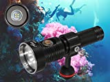 ANO V520 Diving Video Light 2000 Lumen Scuba Underwater Photography Light Waterproof 650ft/200M High CRI Li-On ICR18650 Battery Included