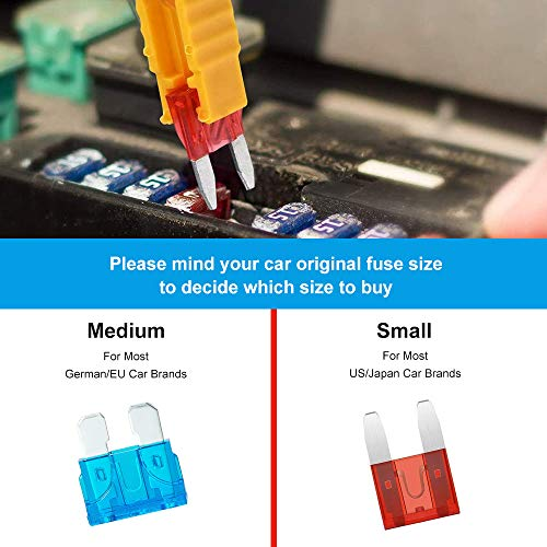 Komake 311 Pieces of Car Fuses, Car Fuses Set, Standard and Mini Flat Fuses (2A 3A 5A 7,5A 10A 15A 20A 25A 30A 35A 40A…