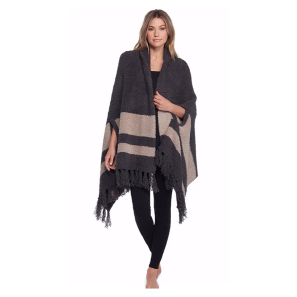 Barefoot Dreams Cozychic Malibu Wrap (Carbon/Sand) by Barefoot Dreams