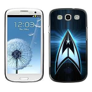 TopCaseStore / la caja del caucho duro de la cubierta de protección de la piel - Star Crew Space Logo - Samsung Galaxy S3 I9300