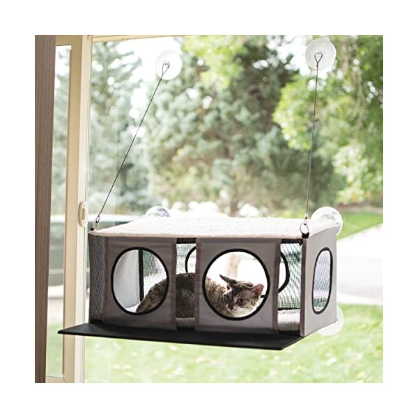 "K&H Pet Products EZ Mount Penthouse Gray/Black 19"" x 23"" x 9.5"" Kitty Sill 1"