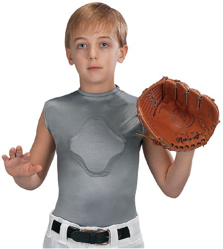 Markwort Youth Heart-Gard Protective Body Shirt, Grey, Youth Small (Baseball Pitcher Helmet compare prices)