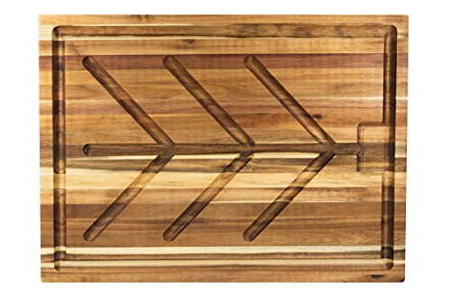 (Villa Acacia Wood Carving Board, Extra Large Juice Groove and Well - 24 x 18 x 1.5 Inch )