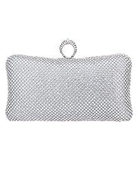 Fawziya Bling Ring Clutch Purse Women Rhinestone Clutch Evening Bag