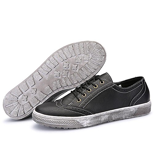 Idée Cadres Hommes En Cuir Rétro Mode Sneaker Noir