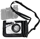 DURAGADGET Compact Camera Case in Black for Panasonic Lumix LX5, FT20, TZ30, DMC-XS1, DMC-F5, DMC-FH10, DMC-TS25 & DMC-Z9 - Premium Quality, Water-Resistant Pouch with Zoom Lens Compartment, Cross-Body Strap & Air-Locked Seals