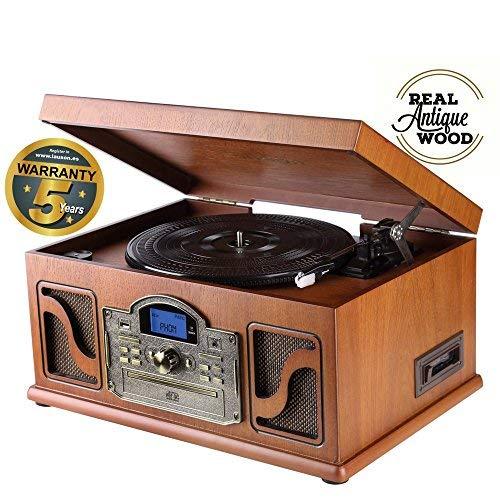 Tocadiscos multifunciones vintage maderahttps://amzn.to/2LlgsYX