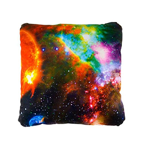 15'' Galaxy Square Pillow by Bargain World