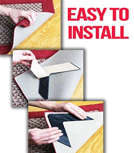 nevercurl instantly stops rug corner curling safe for wood floors for new ebay. Black Bedroom Furniture Sets. Home Design Ideas