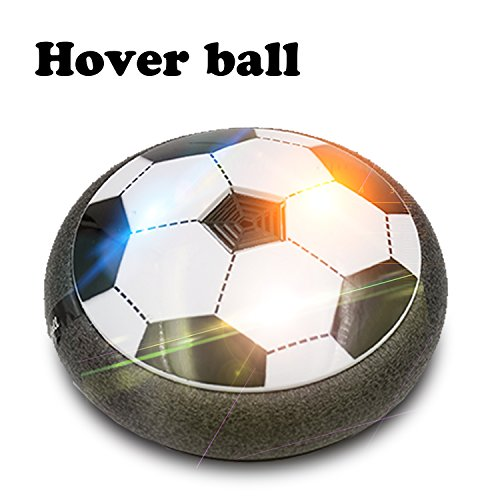 Zikke Kid's Cool Air Power Soccer Disk Hover Ball, Indoor/Outdoor Activities, Sports Toys with Foam Bumpers, Equipped with Led Lights