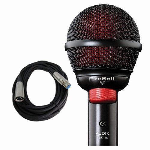 Audix Fireball V Harmonica Beatbox Microphone Fire Ball V w Free 20ft Cable by Audix