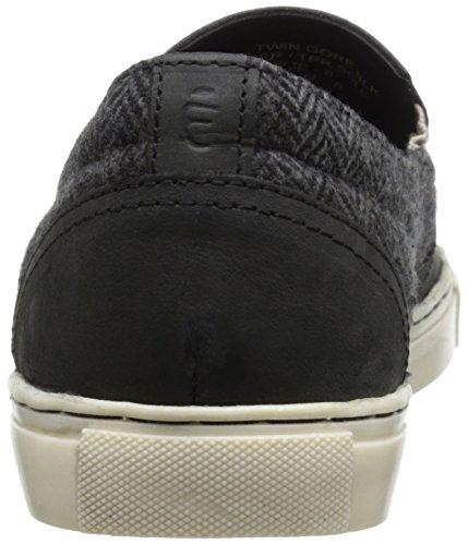 Crevo Mens Walden Fashion Sneaker In Pelle Nera / A Spina Di Pesce