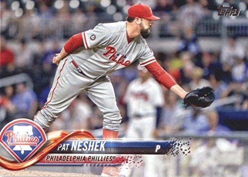 2018 Topps Baseball Series 2#407 Pat Neshek Philadelphia Phillies Official MLB Trading Card