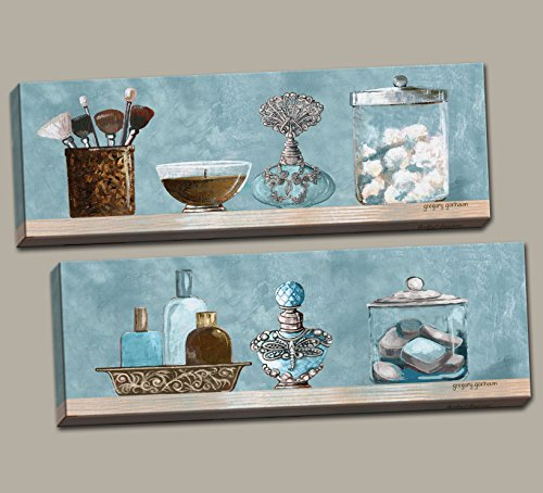 Bathroom Wall Art Uk Amazon: Blue And Brown Wall Decor: Amazon.com