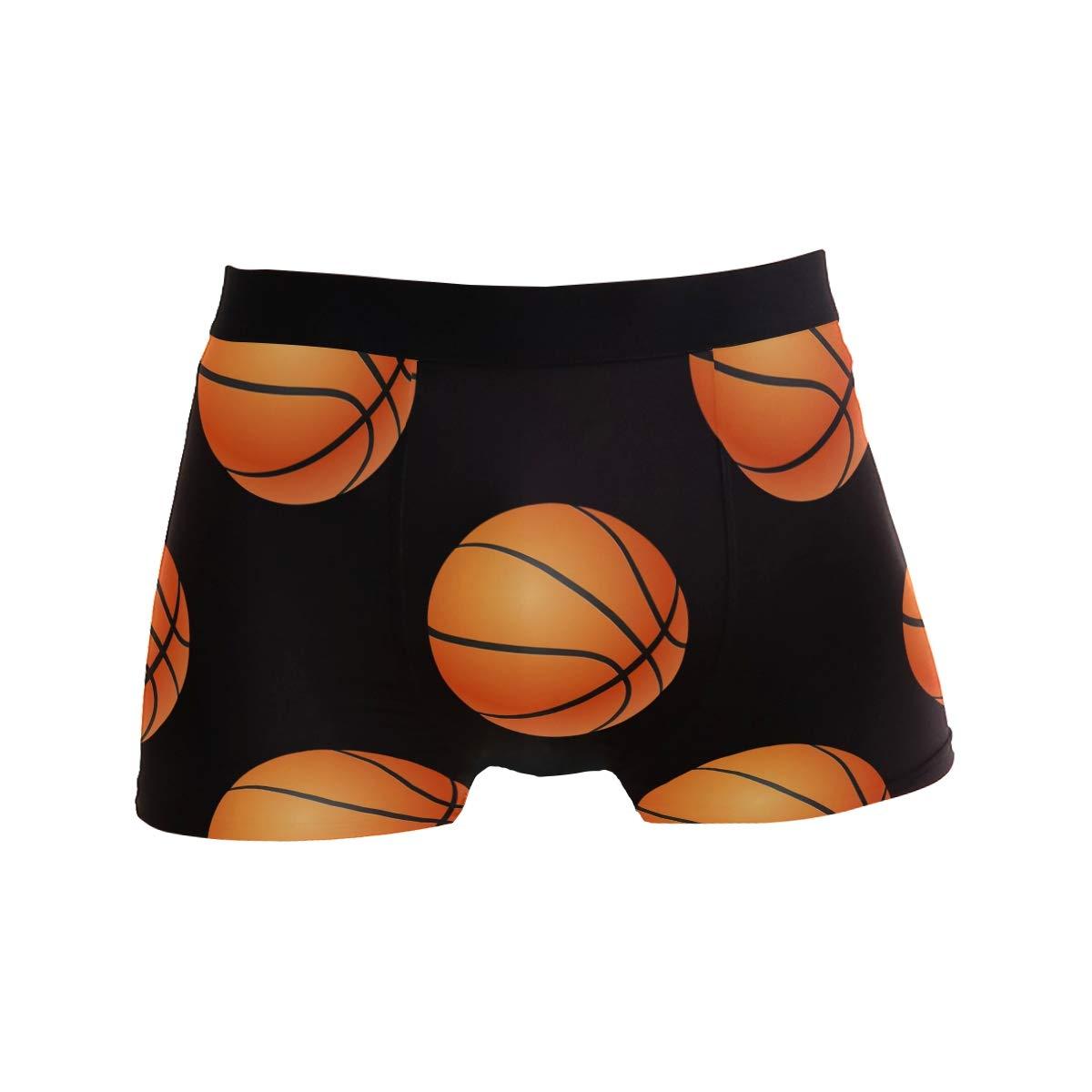 Basketball Pattern Boxer Briefs for Men Mens Comfortable Underwear