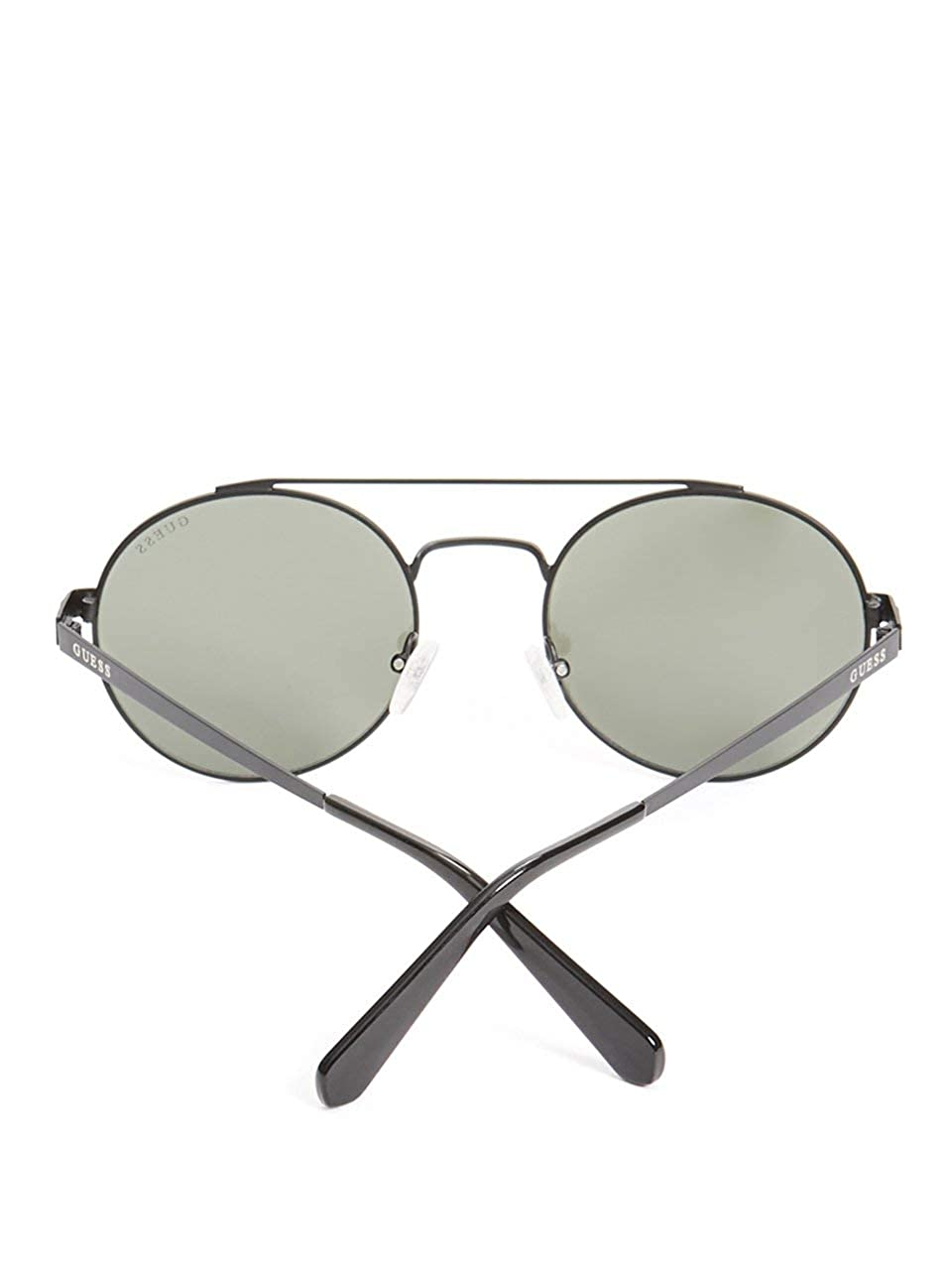GUESS Mens Jack Round Aviator Sunglasses