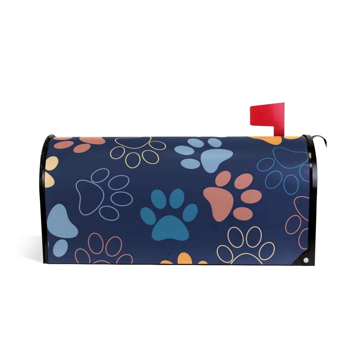 senya Home Garden Cat Or Dog Footprints Pattern Magnetic Mailbox Cover Standard by senya