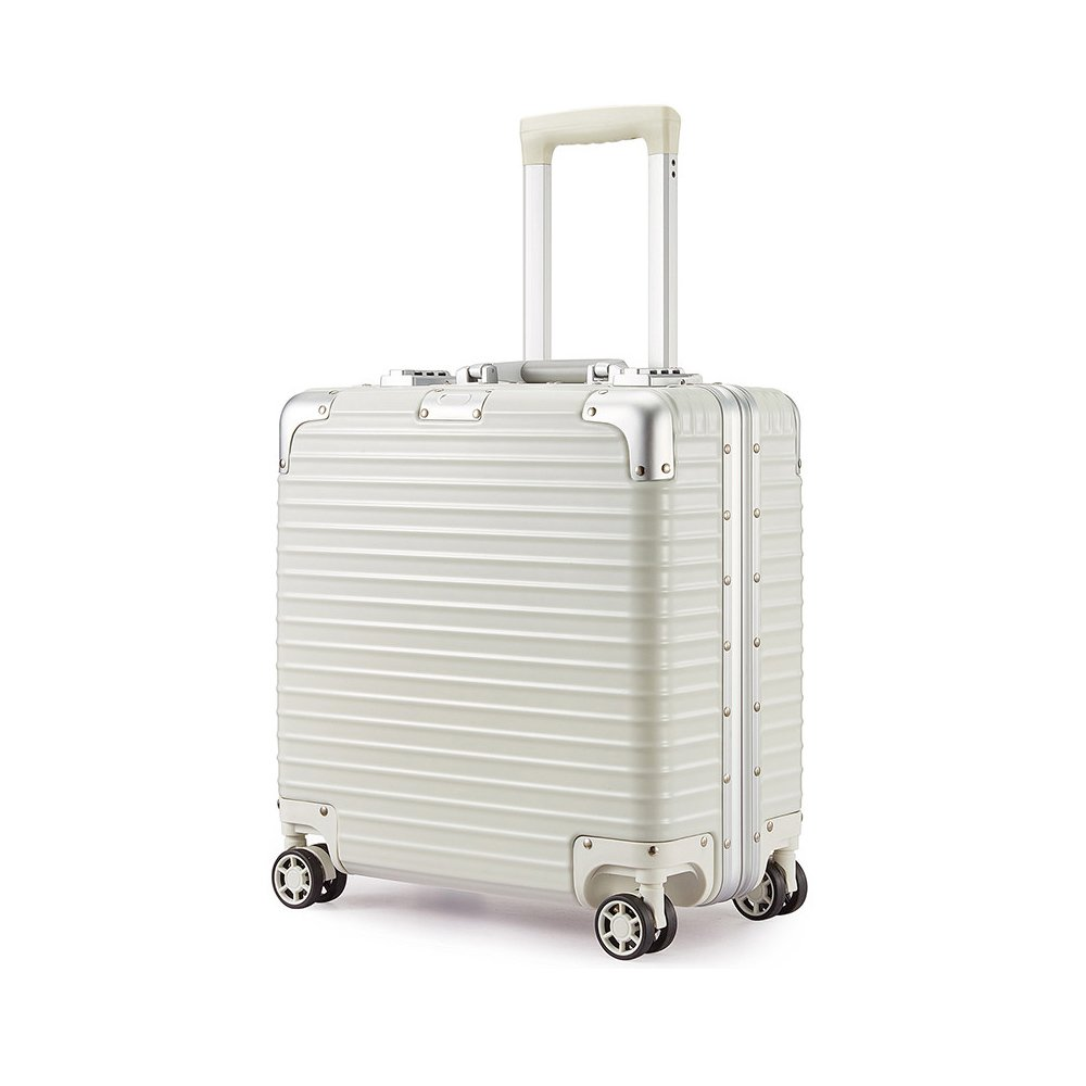 Uniwalker スーツケース 小型 超軽量 キャリーケース 【1年修理保証】 TSAロック 静音8輪 ビジネス キャリーバッグ 旅行 出張 機内持込可  ホワイト B075HRNFW2