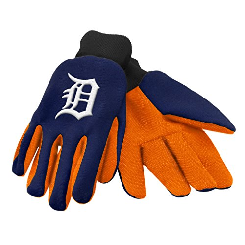 Detroit Tigers Official MLB One Size Sport Utility Work Gloves by Forever Collectibles 875750