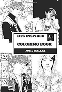 BTS Inspired Coloring Book Cute South Korean Boy Band And Gorgeous Jungkook Billboard Sensation