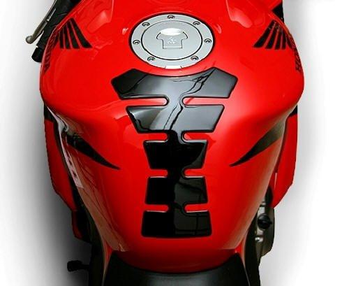 Bike Tank Pads (i5® Black Tank Pad for Honda Suzuki Kawasaki Yamaha)