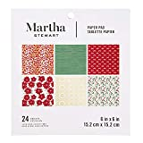 Martha Stewart 30068359 Paper Pad-Red/White/Greenery 6x6 Paperpad 6 x 6 inches Multicolor