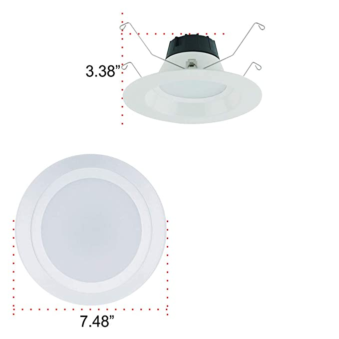 Overdrive 605, (6-Pack), 65 -Watts Equivalent Incandescent, Recessed Retrofit LED Downlight 5