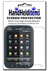 HHI Pantech Pocket Crystal Clear Screen Protector (Package include a HandHelditems Sketch Stylus Pen)