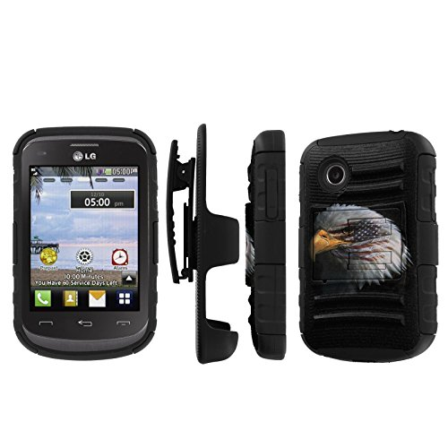 Click to buy NakedShield LG 306G 305C (American Eagle) Combat Tough Holster KickStand Armor Phone Case - From only $15.95