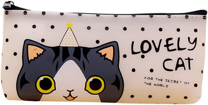 Topdo - Estuche para lápices, diseño de Gato con Cremallera: Amazon.es: Hogar