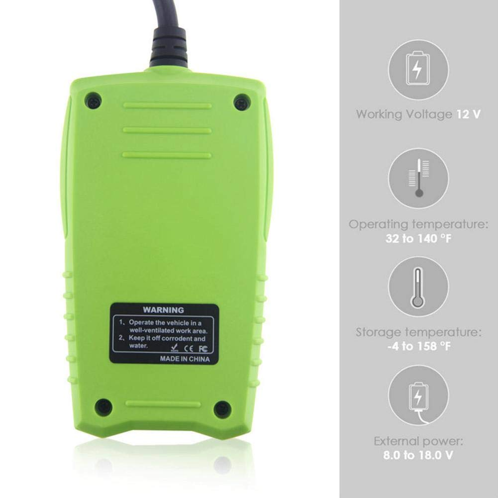 Zigtee JDiag FasCheck BT200 12V Auto Battery Tester Car Cranking and Charging System Test Scan Tool Battery Analyzer Diagnostic Tool for CCA MCA JIS DIN IEC EN SAE GB etc by Zigtee (Image #5)