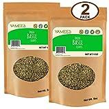 Yamees Basil - Basil Leaves - Dried Basil - Basil Bulk - Bulk Spices - 2 Pack of 5 Ounce Bags