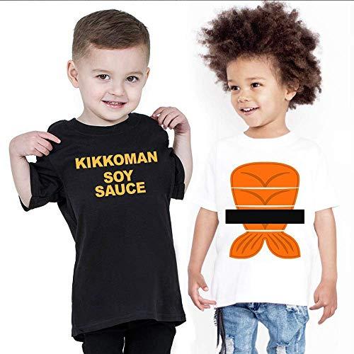 Kikkoman Soy Sauce Matching Couple Halloween Costume Boys Girls Kids Cooking Funny Fish Sauce Mermaid Foodie Handmade T-Shirt Hoodie/Long Sleeve/Tank Top/Sweatshirt