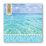 #9: Michel Design Works 20-Count 3-Ply Paper Cocktail Napkins, Beach