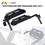 AUXMART Foot Pegs for Jeep Wrangler 2007-2017 (Pack of 2)