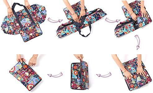 Large Foldable Travel Duffle Bag For Women Hospital Bag Cute Floral Tote Handbag Shoulder Weekender Overnight Carry On Checked Luggage Bag For Girls