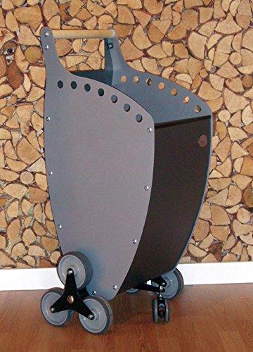 Carrello portalegna e portapellet con ruote 200mm caminetti for Carrello portalegna da arredamento