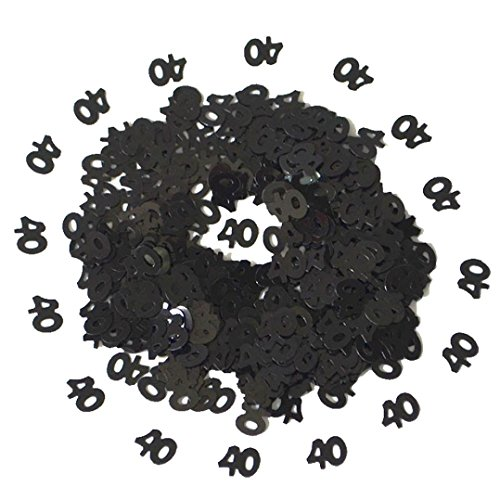 - Yeefant 40th Birthday and Anniversary Confetti Premium 1 Inch Round Tissue Paper Party Table Birthday Confetti Number Party Decor,15 Grams, Black