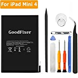 GoodFixer for Apple iPad Mini 4 Battery Replacement with Complete Repair Tools Kit, Adhesive Strip 0 Cycle - 5124mAh Li-ion Replacement Battery [365 DAYS Warranty]