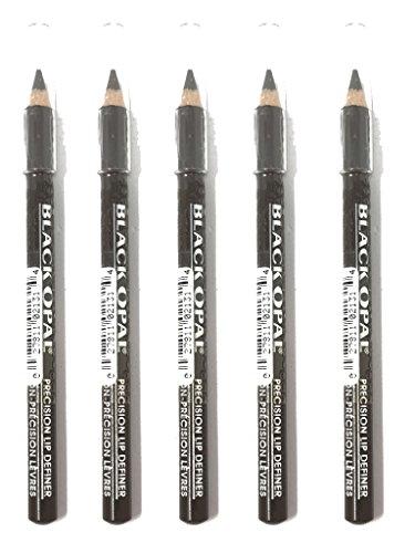 Black Lip Opal Definer (Pack of 5 Black Opal PRECISION LIP Eye Liner Definer .04 oz FRENCH ROAST)